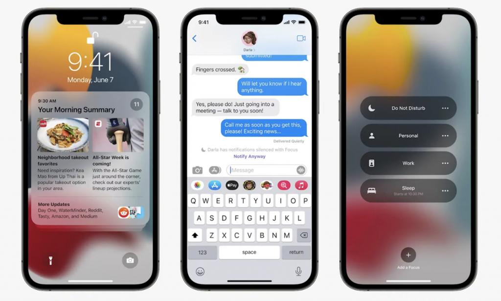 جدید ترین نسخه اپل ios15