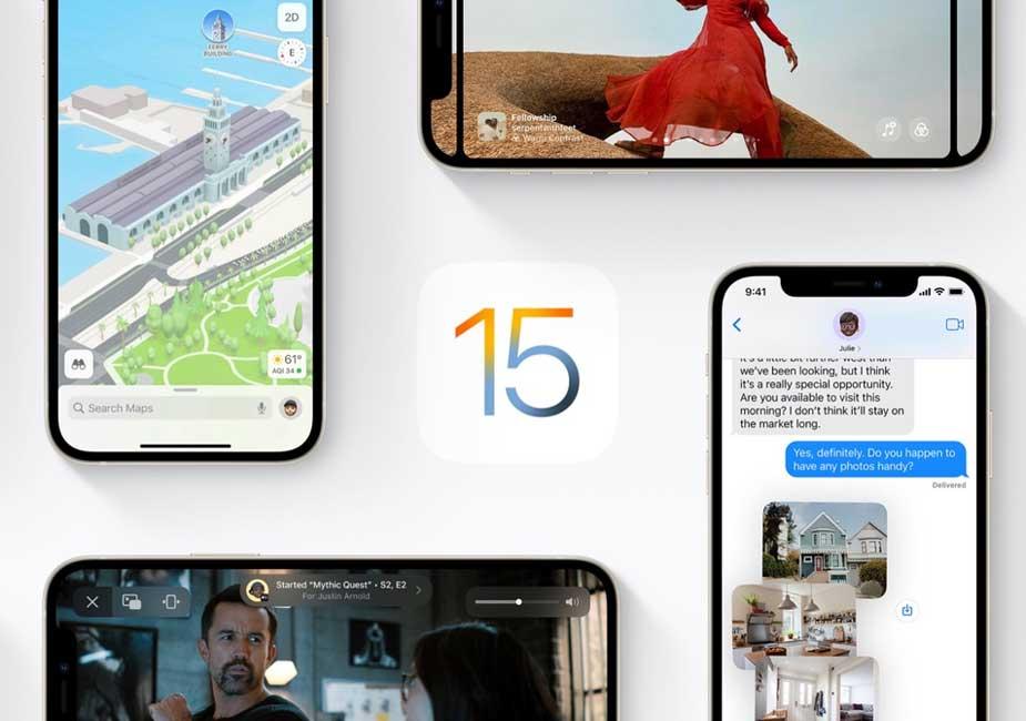 عرضه رسمی ios15 و ipados توسط اپل