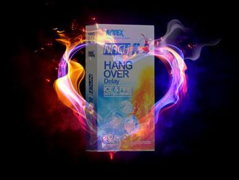 خرید کاندوم تاخیری کاندوم خاردار خرید اینترنتی کاندوم NACH-KODEX HANG OVER Delay ICE &FIRE