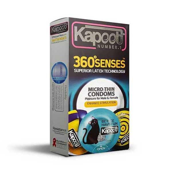 کاندوم تحریک کننده کاپوت مدل 360 Senses