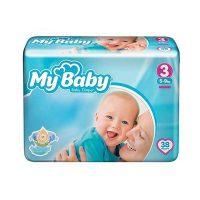 پوشک نوزاد مای بیبی سایز سه 38 عددی