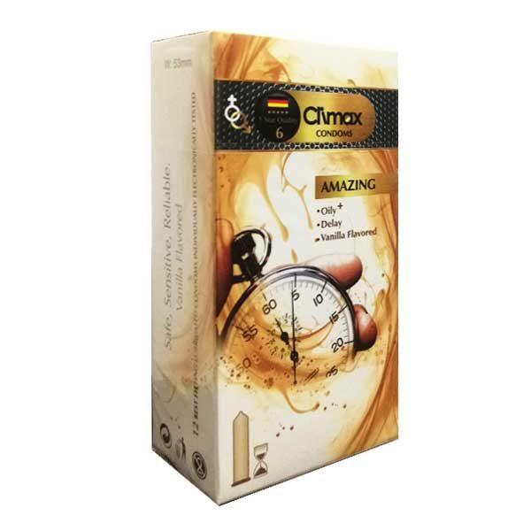 کاندوم تاخیری کلایمکس با اسانس وانیل Climax Amazing