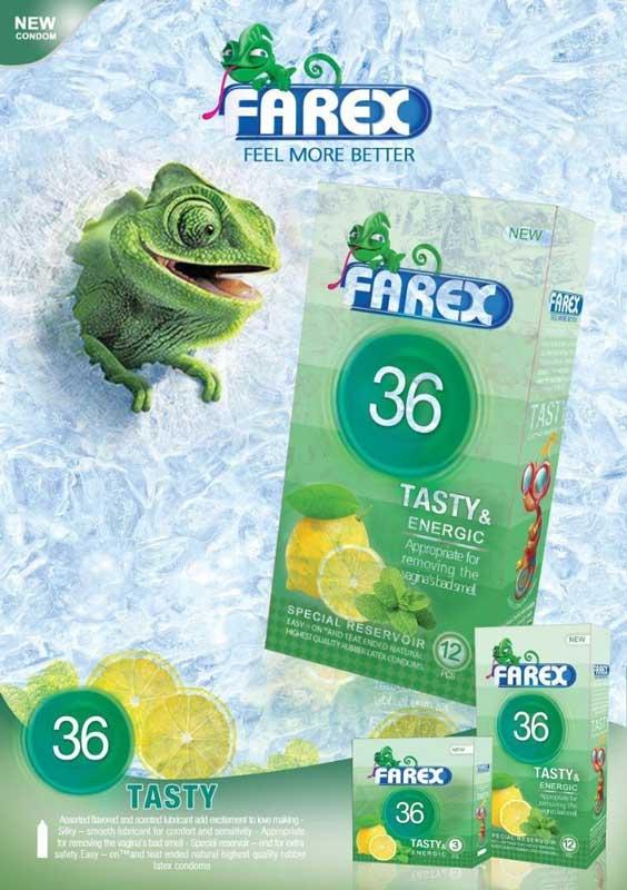کاندوم میوه ای فارکس 36 Tasty