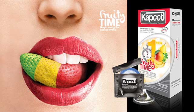 کاندوم میوه ای و تاخیری کاپوت مدل Fruity Time