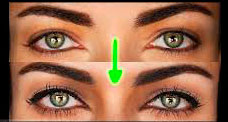 چشمان دور از هم