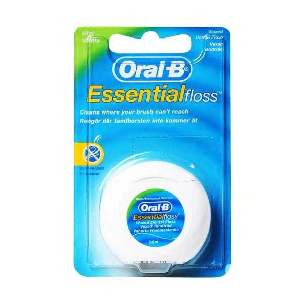 تصویر نخ دندان اورال بی مدل  Essential Floss Mint Oral B Essential Floss Waxed Mint
